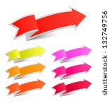 set of arrow stickers isolated... | Shutterstock . vector #132749756