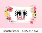 spring sale cute background... | Shutterstock .eps vector #1327514462