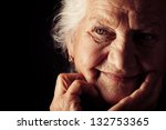 portrait of a happy senior... | Shutterstock . vector #132753365