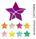 design star logo element.... | Shutterstock .eps vector #132753806