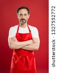 confident in his culinary craft.... | Shutterstock . vector #1327552772