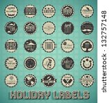 Vector Set  Holiday Labels And...