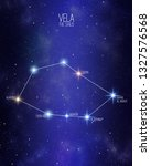 vela the sails constellation on ... | Shutterstock . vector #1327576568