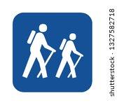 hiking symbol pictogram | Shutterstock . vector #1327582718