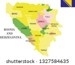 bosnia and herzegovina map... | Shutterstock .eps vector #1327584635