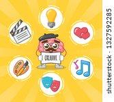 cartoon brain creativity   Shutterstock .eps vector #1327592285