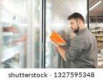buyer standing in the... | Shutterstock . vector #1327595348