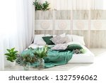 interior bedroom with a bed.... | Shutterstock . vector #1327596062