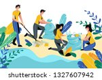 volunteering  charity social... | Shutterstock .eps vector #1327607942