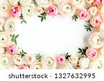 floral pattern frame made of... | Shutterstock . vector #1327632995