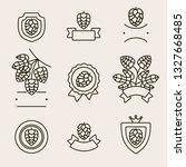hop labels and elements set.... | Shutterstock .eps vector #1327668485