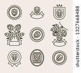 hop labels and elements set.... | Shutterstock .eps vector #1327668488