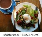 morning egg salad breakfast and ... | Shutterstock . vector #1327671095