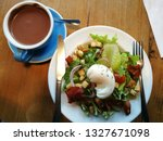 morning egg salad breakfast and ... | Shutterstock . vector #1327671098