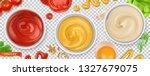 sauces. ketchup  mustard ... | Shutterstock .eps vector #1327679075