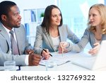 office team working with... | Shutterstock . vector #132769322