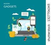 modern gadgets vector flat...   Shutterstock .eps vector #1327706345