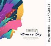 happy women s day  silhouette...