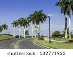 Road to community in Naples, Florida - stock photo