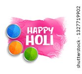 happy holi colors background... | Shutterstock .eps vector #1327719902