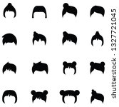 hair styles icon set | Shutterstock .eps vector #1327721045