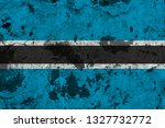 botswana flag on old wall....   Shutterstock . vector #1327732772