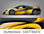 sport car racing wrap design.... | Shutterstock .eps vector #1327736372