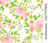 flower print. elegance seamless ... | Shutterstock .eps vector #1327737842