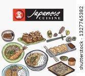 hand drawn japanese food  menu... | Shutterstock .eps vector #1327765382