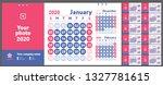 2020 calendar. english calender.... | Shutterstock .eps vector #1327781615