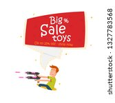 amazing toy sale banner. sign... | Shutterstock .eps vector #1327783568