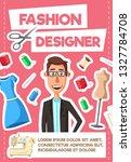 fashion designer profession ... | Shutterstock .eps vector #1327784708