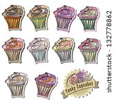 cupcake vector collection very...   Shutterstock .eps vector #132778862