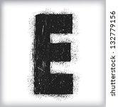 grunge letter   Shutterstock .eps vector #132779156