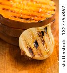 grilled onion and pumpkin... | Shutterstock . vector #1327795862