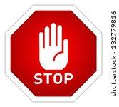 stop sign | Shutterstock . vector #132779816
