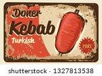 kebab vintage label | Shutterstock .eps vector #1327813538