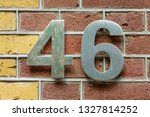 hoouse number forty six  46  | Shutterstock . vector #1327814252