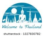 thailand famous landmark...   Shutterstock .eps vector #1327830782