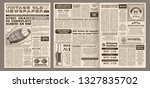 vintage newspaper template.... | Shutterstock .eps vector #1327835702