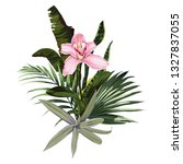 composition with pink orchid... | Shutterstock .eps vector #1327837055