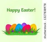 festive card. colorful easter... | Shutterstock .eps vector #1327838978