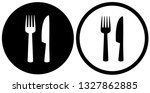 simple restaurant or cafe icons ... | Shutterstock . vector #1327862885