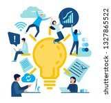 business and partnership... | Shutterstock .eps vector #1327865522