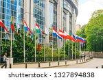 brussels  belgium   may 20 ... | Shutterstock . vector #1327894838