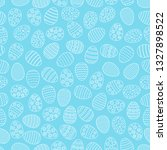 easter seamless background with ... | Shutterstock .eps vector #1327898522