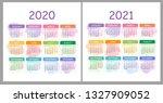 vector calendar 2020  2021... | Shutterstock .eps vector #1327909052
