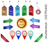 set of sale tags  labels and... | Shutterstock .eps vector #132791642