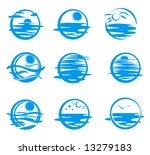 icons of water. | Shutterstock .eps vector #13279183