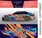 sport car in modern comouflage  ...   Shutterstock .eps vector #1327918625